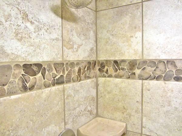 Shower with Petoskey Stone Tile (2) – Petoskey Stone Tile